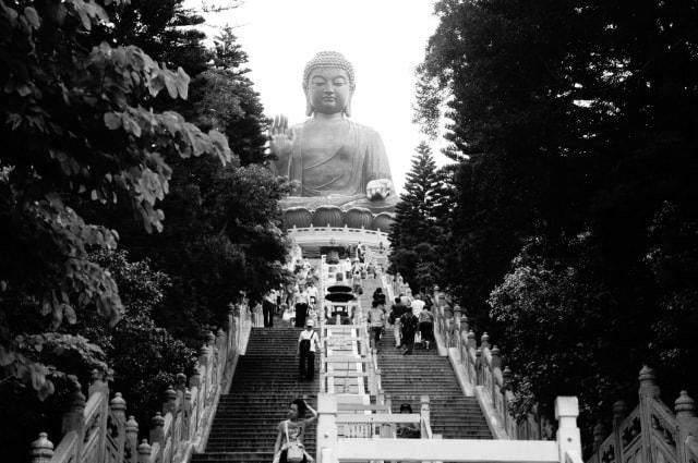 Big Buddha Statue, on Lantau Island.