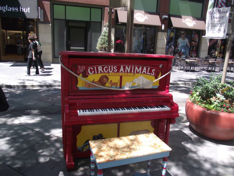 Animal Cracker piano in Denver, Colorado.