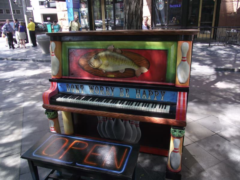 Don't Worry Be Happy Piano in Denver, Colorado.