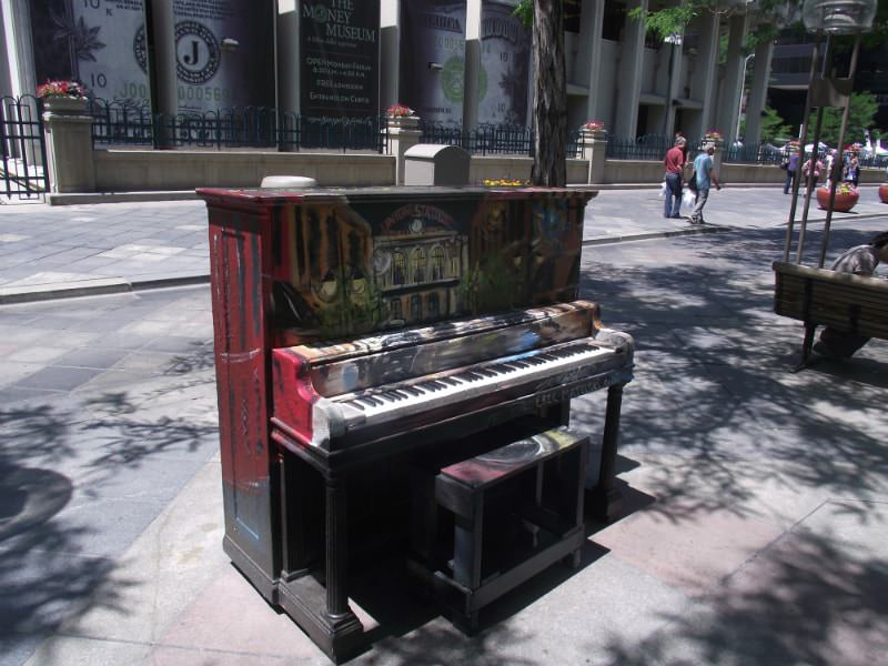 Union Station piano in Denver, Colorado.