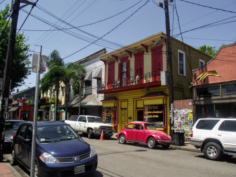 Frenchman Street in New Orleans.