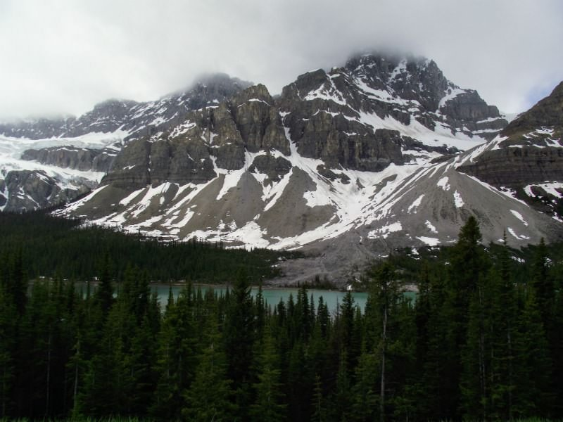 The Icefield Parkway in the Alberta Rockies.