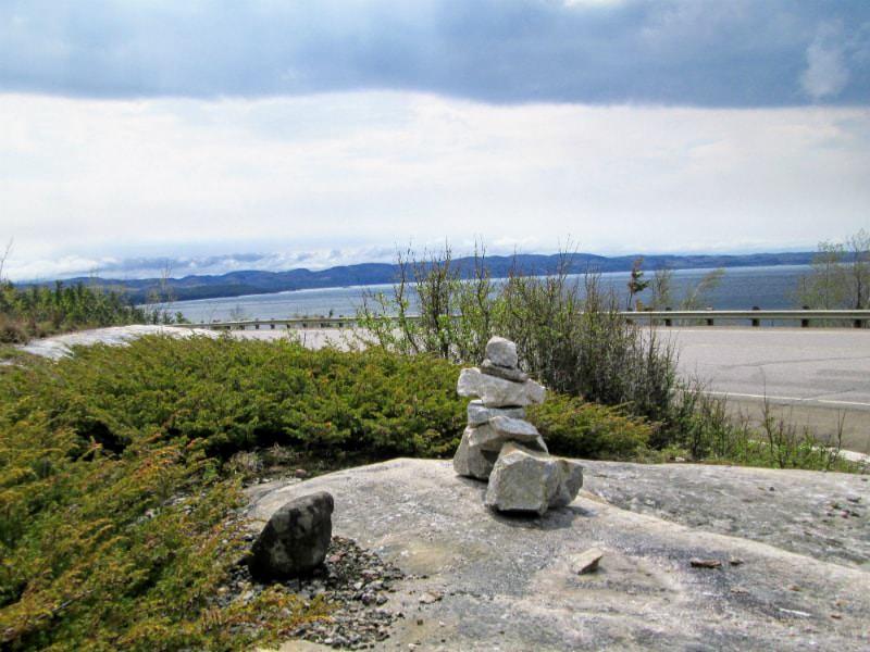 Inukshuk at Lake Superior in Ontario.