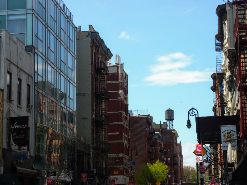 The Lower East Side of Manhattan.