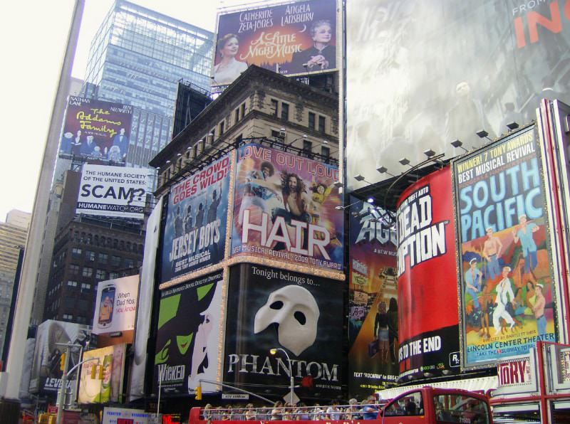 Broadway Posters in Times Square