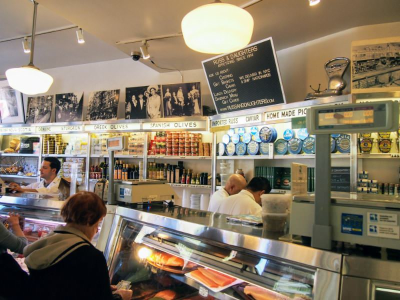 Russ and Daughters in New York City.