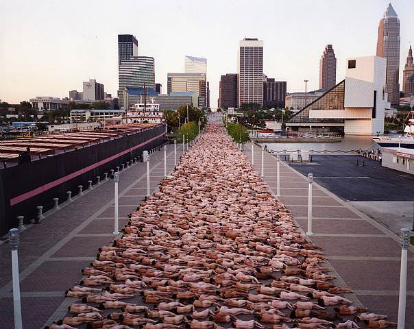 Spencer Tunick Art in Cleveland, Ohio. This image is copyright of Spencer Tunick.