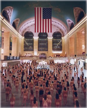 Spencer Tunick photography installation in New York City's Grand Central Station This image is copyright of Spencer Tunick.