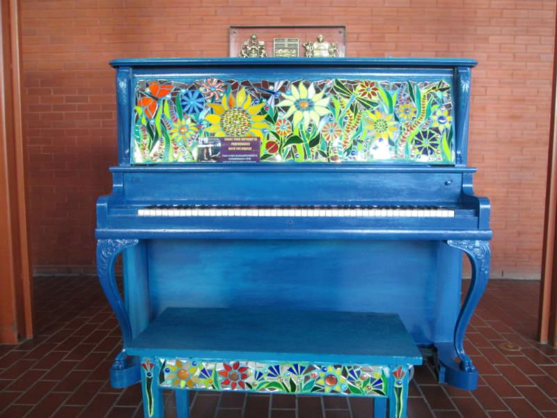 Van Gogh piano in Edmonton.